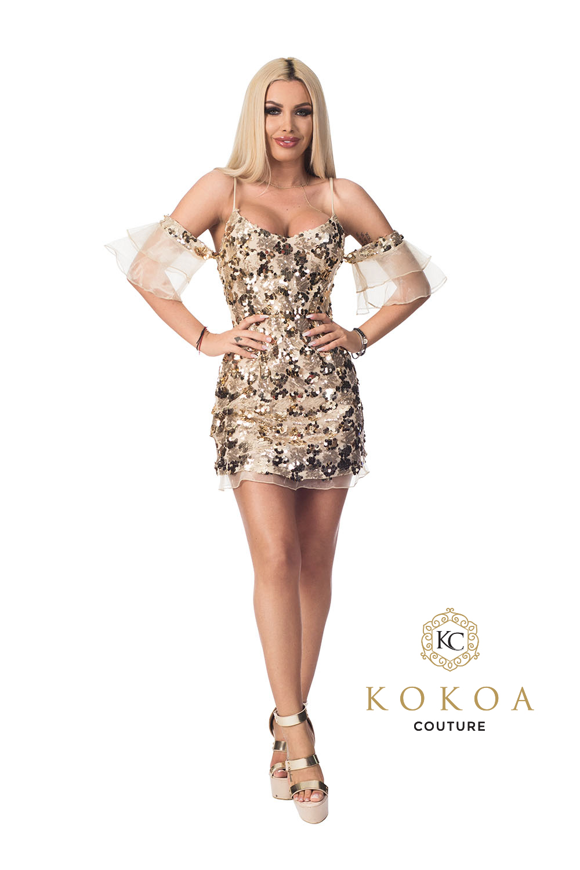 rochie eleganta de ocazie Butterfly