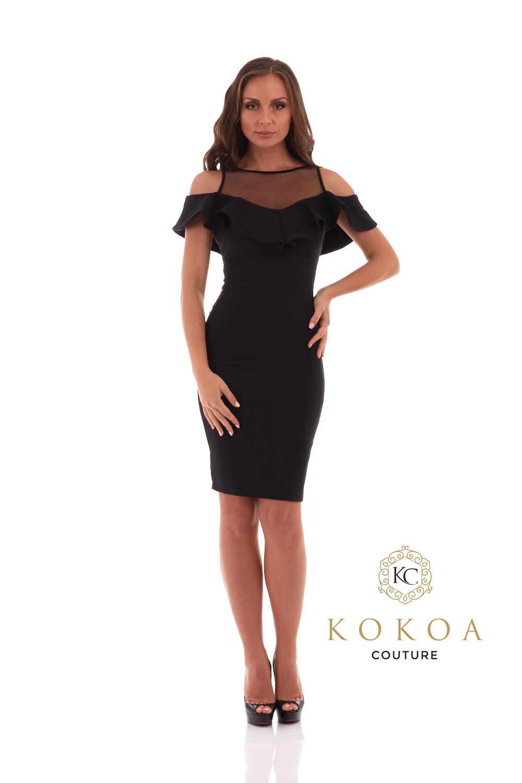 rochie eleganta neagra Sofia