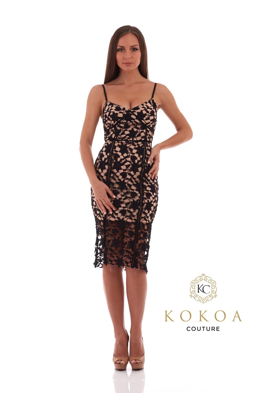 rochie brodata eleganta Veronique