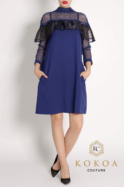 rochie de seara albastra Ioana