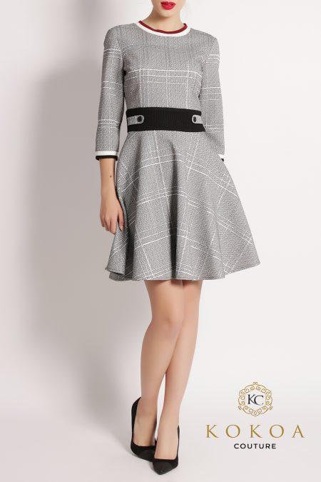 rochie-eleganta-de-zi-glossy-argintiu
