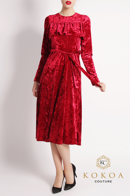 rochie de ocazie rosie Kisa