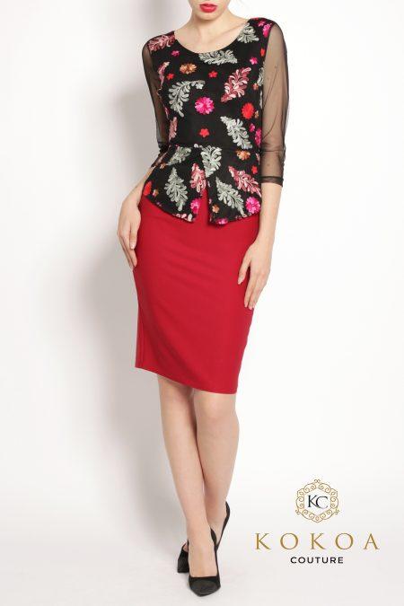 rochie eleganta rosie Jamila