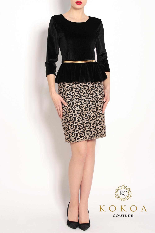 rochie eleganta scurta de catifea