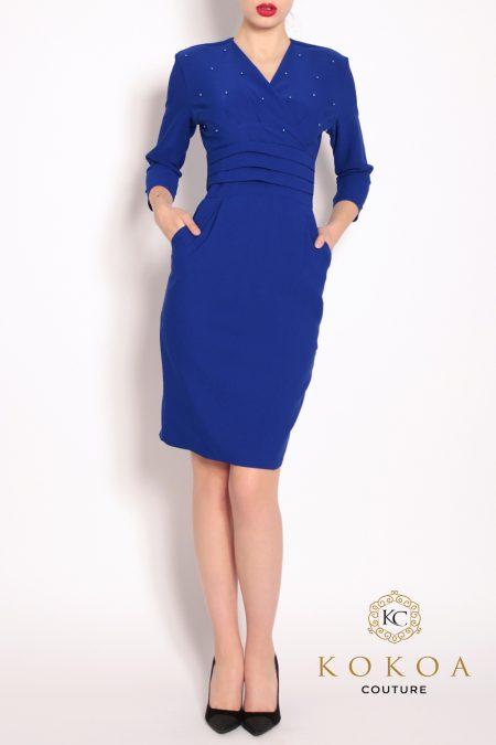Rochie-eleganta-ZURA-albastru