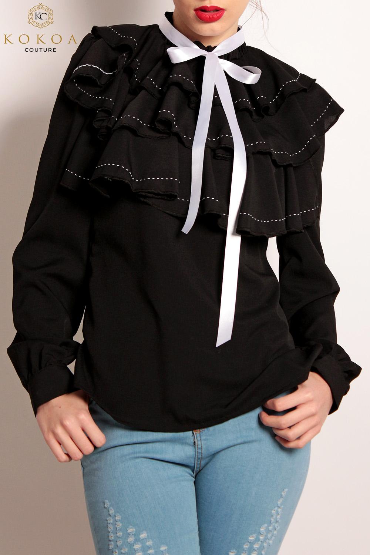 camasi dama en gros liss black