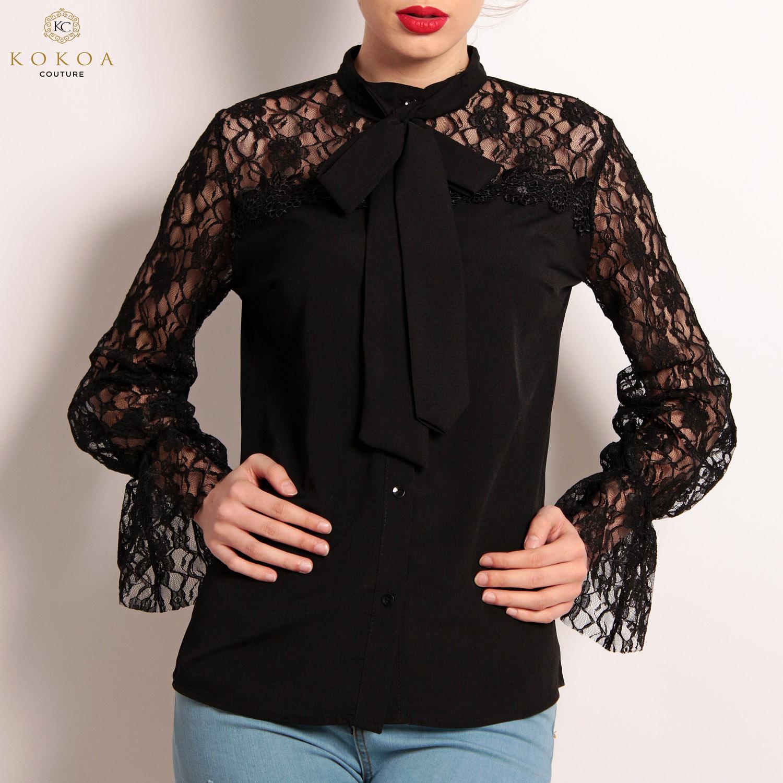 camasi dama en-gros classy black