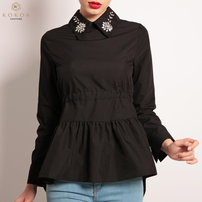 set camasi dama en-gros negre